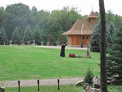 Fr. Roman in Cemetary